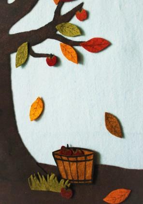 felt seasons tree